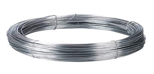 Wilgenhek staaldraad, glad draad, verzinkt ijzerdraad Ø 2,0 mm - 200 m - ideaal voor hek of omheining: runs, dieren, varken