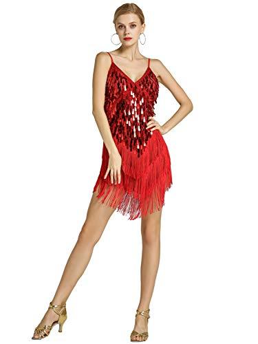 Zengbang Mujer Moda Lentejuelas Conjunto Traje Baile
