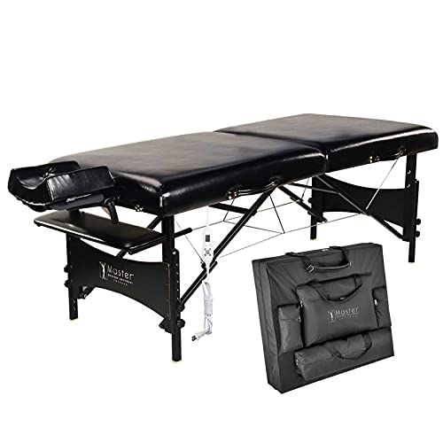 Master Massage 30 Inch Galaxy Heated Massage Table, Portable Folding Massage Bed, 3' Thick Memory...