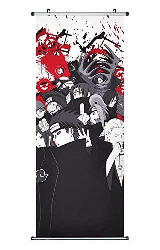 CosplayStudio Póster grande de Naruto con diseño de cacemono de tela, 100 x 40 cm, diseño: Akatsuki