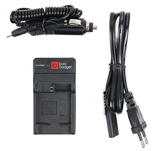 DURAGADGET Chargeur 2 en 1 pour PNJ AEE S71T+ (Plus), S80 & S90 caméra d'action - adaptateur secteur et allume-cigare voiture