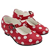 Zapatos Sevillana Rojos con Lunares Blancos Talla 24