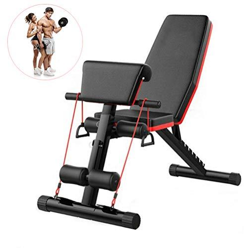 Fnova Banco de pesas ajustable para fitness, inclinación plegable para entrenamiento en casa, gimnasio, ejercicio, banco de prensa [UK Stock]