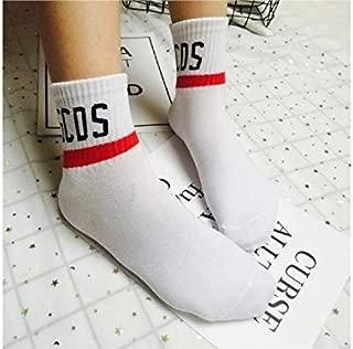 Lovely Socks Children Cotton Socks Kids Spring and Summer Letter Pattern Mid Tube Socks(Green) Newborn Sock (Color : White)