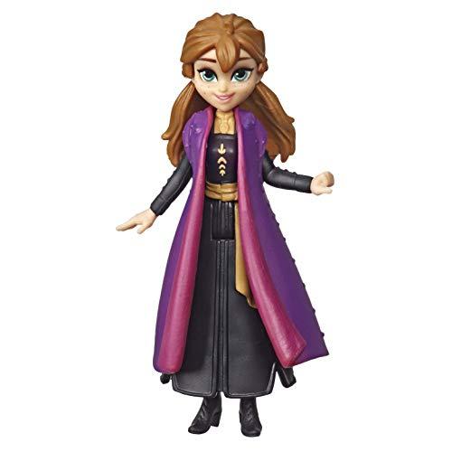 Hasbro Disney Frozen Disney Die Eiskönigin kleine Anna Puppe mit abnehmbarem Umhang, inspiriert durch den Film Die Eiskönigin 2 E6306ES0