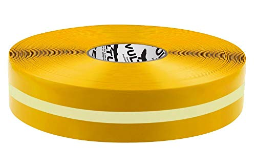 """Vulture Floor Tape Glow in The Dark Marking Tape, Solid with Glowing Center Line, Continuous Roll, 2"""" Roll, 1 EA, 45VR91"""