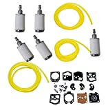 ouyfilters carbure Tor Rebuild Kit Gasket diafragma K10 de Wat with Fuel Filters 4 Feet Fuel Line For Walbro Carb Stihl Husqvarna McCulloch Echo Chainsaw Edger recortador