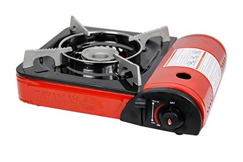Tayama Portable Butane Gas Stove (Red), 13 inch (TGS-300)