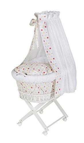 Schardt Berceau Babsi, Laqué, Textiles Maliz Comprises Blanc