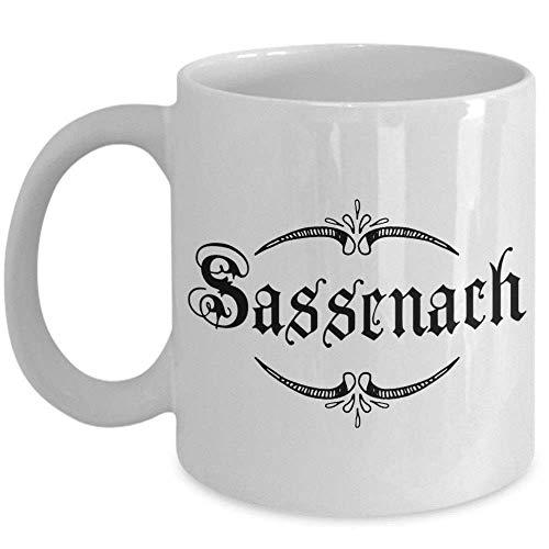 N\A Taza de café Sassenach - Regalo Impresionante para el Fan de Outlander Regalo de Taza Blanca Personalizada
