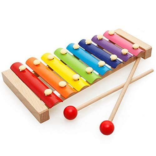 pengxiaomei Xylophone for Kids, Color Scissor Wooden Xylophone Toy with Child Safe Mallets, Educational Musical Instruments Toy for Toddlers Child