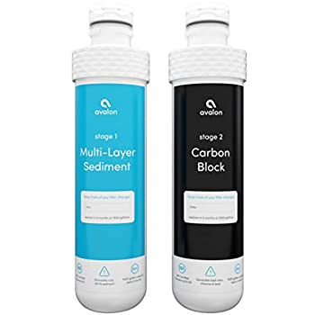 Avalon 2 Stage Replacement Filters For Avalon Branded Bottleless Water Coolers  PURCHASED AFTER JANUARY 2018  NSF Certified 1500 Gallons