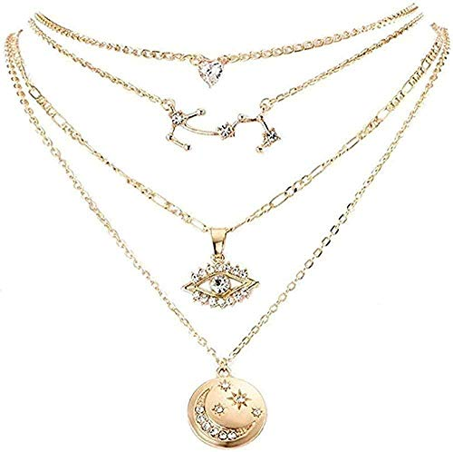 DUEJJH Co.,ltd Collar Collar Collar 925 Plata Granate Mujeres Pequeñas Cadena de Oro Rosa Colgante de San Valentín S