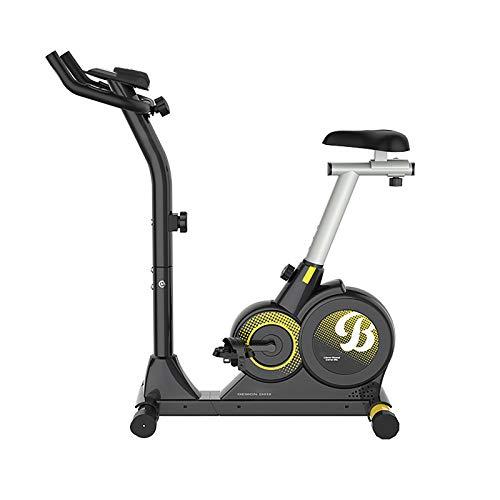 Bicicleta de Ejercicio, Bicicleta Estática, Bicicleta Fitness en Casa, con Pantalla LED Universal 8 Niveles de Resistencia Magnética, plegable, Rotor de 4 kg para atletas y mayores Black