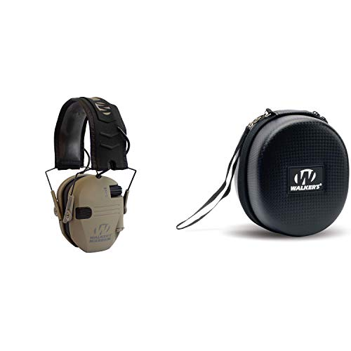 Purchase Walkers Razor Electronic Shooting Ear Muffs, Dark Earth Bundle with Storage Case, Black