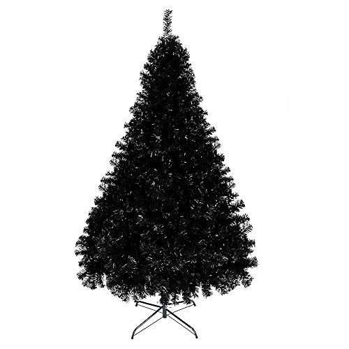 Bonnlo Upgraded Full 6ft Artificial Pink Christmas Tree Holiday Decoration w/ 1,600 Branch Tips, Sturdy Metal Stand