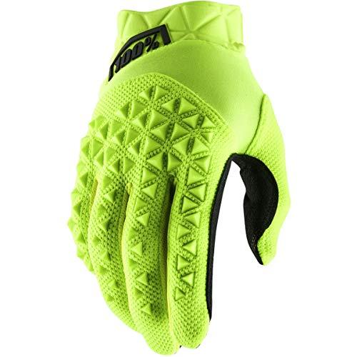 Desconocido 100% Airmatic Glove Guantes, Unisex Adulto, Fluo Yellow/Black, MD