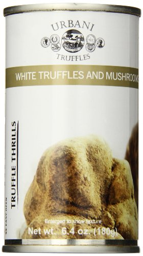 Urbani Truffles Thrills, White Truffles and Mushrooms, 6.4 Ounces Can