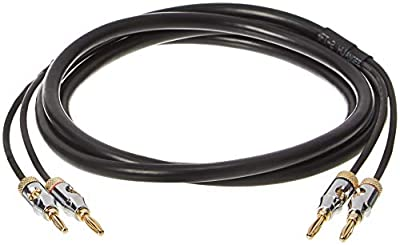 AmazonBasics Speaker Cable with Gold-Plated Banana Tips - CL2 - 99.9% Oxygen Free - 1.8 m