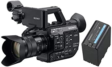 Sony PXW-FS5M2 4K XDCAM Compact Handheld Camcorder with Super 35 CMOS Sensor and 18-105mm f/4 G OSS E-Mount Zoom Lens BPU60 Rechargeable Lithium-ion 56Wh Battery Pack