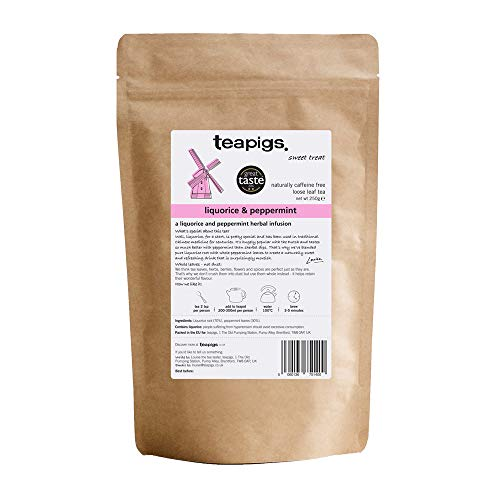 Teapigs Liquorice and Peppermint Loose Tea Made with Whole Leaves (1 Packs of 250g)