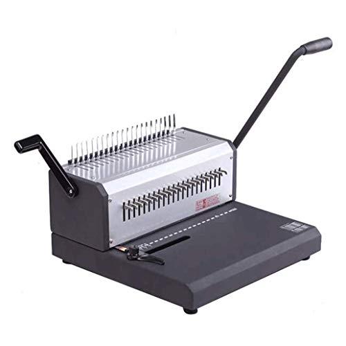 YWAWJ La máquina de encuadernación 21 Agujero cuchillos completo Contabilidad Vales financieros Licitaciones libros de archivos de información Bills Manual Clip Tiras delantal vinculante máqui
