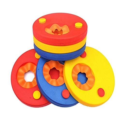 6 Pack EVA Foam Swim Discs Armbands Floating Sleeves,Pool Float Board Baby Swimming Exercises Circles Rings