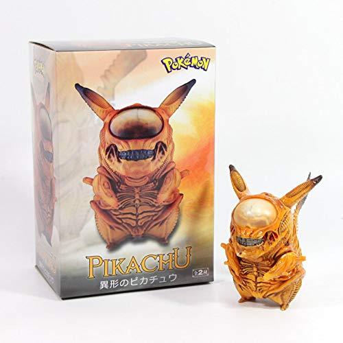 MizzZee 8,5 cm Alien Pikachu Figur Pikachu Mix Xenomorph Warrior Aliens VS Predator AVP Cute Q GAM PVC Action Figur Modell Spielzeug Kinder Spielzeug Gelb