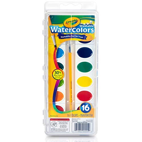 Crayola Washable Watercolors, 16 Count, 4 Ounces