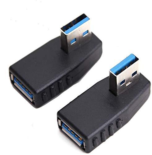 Adaptador USB 3.0 Conector macho de 90 grados Conector hembra Conector Enchufe Ángulo Izquierdo y Ángulo Recto