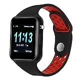 Dr.Haer Reloj Inteligente, M3 Smartwatch Bluetooth Deporte Fitness Tracker con Monitor de Pulso Cardiaco,Rastreador de Ejercicios para iOS, Android Phones,etc
