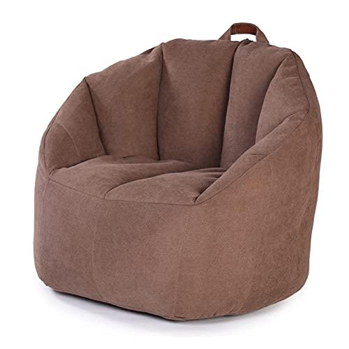 ppqq geschikt voor indoor ontspanning appartement woonkamer tatami hotel stof luie sofa bonen tas stoel cover (kleur: bruin)