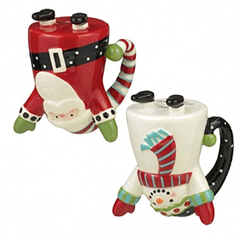 Grasslands Road Holiday Traditions Merry Mini Cartwheel Salt & Pepper Shakers, Ceramic