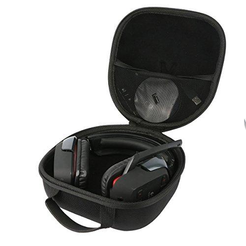 Teckone EVA Funda Estuche Bolso Para Logitech G430/G930/G933 - Auriculares Gaming de diadema cerrados USB. Mesh Pocket Para otro accesorios