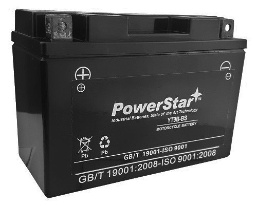 PowerStar Sealed AGM YT9B-BS YT9B-4 Battery for Yamaha YFM700R Raptor YZF-R6 YP400 Majesty