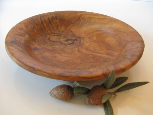 Bellissimo piatto in legno d'ulivo, 20 x 4 cm, n. 239, ciotola, piatto in legno, ulivo, ciotola.