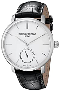 Frederique Constant Men's FC710S4S6 Slim Line Analog Display Swiss Automatic Black Watch Sale and Buy NOW!!! and review
