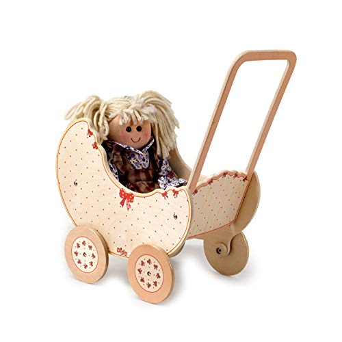 Dida - wooden pram for dolls - decoration: Bow