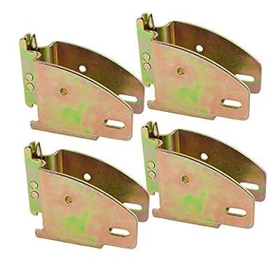 Mytee Products E-Track Wood Beam End Socket Shelf Brackets w/E Track Fittings, for 2x4 & 2x6