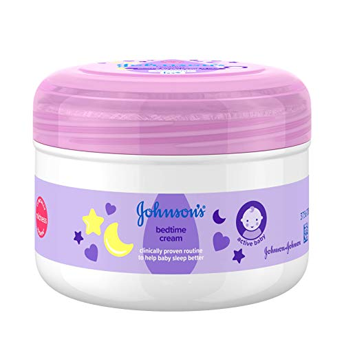 JOHNSON'S Bedtime Cream 200ml – 24-hour Moisture Care – Enriched With...