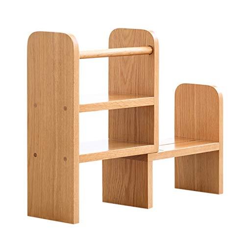 Independiente decorativo Estantería, almacenamiento de escritorio retráctil de roble pequeño estantería en el escritorio de la sala de estudio, estante de almacenamiento, sala de decoración Organizado