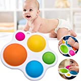 Haplws Juguetes sensoriales Simples para bebés, Tablero Giratorio de Silicona Tablero de Ejercicios Rompecabezas Juguetes Educación Infantil temprana Desarrollo de Inteligencia de Entrenamiento