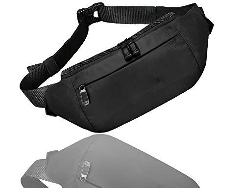 HETOOSHI Riñonera deportiva,Riñonera Cinturón Deportiva Ajustable Impermeable,Adecuado para diversos escenarios como correr, andar en bicicleta, acampar, caminar, etc. (negro)