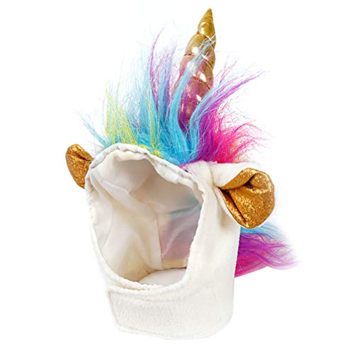 Balacoo Sombrero de Unicornio para Mascotas Gatito Gatito Perro pequeño Cachorro Disfraz de Unicornio Disfraz de Halloween Navidad Accesorio (Colorido)