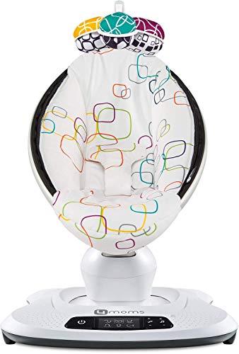 4moms elektrische Babywippe mamaRoo 4, 5 Bewegungsarten & Geschwindig-keiten, per App bedienbar, mit Musik & Mobile, Plüsch-Stoff, mehrfarbig, multi plush, 2000810