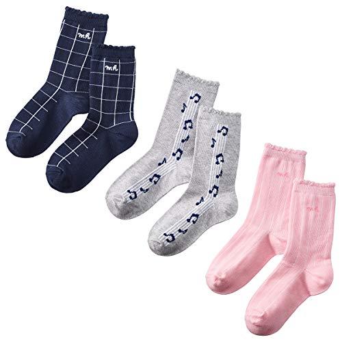 【ミキハウス】 靴下 ソックス パック 14-9640-457 男の子 ベビー 17-19 ピンク