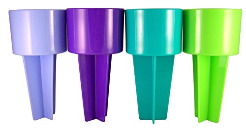 Spiker Beach Sand Cup Coaster, Blue Purple, Teal and Lime, Pack of 4