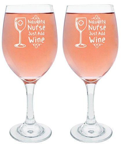Krankenschwester Geschenke Don 't Ask Bad Day Good Day Geschenk Wein Glas weiß