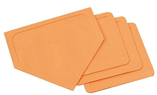 Sportime Throw-Down Bases and Home Plate, Orange, Set of 4
