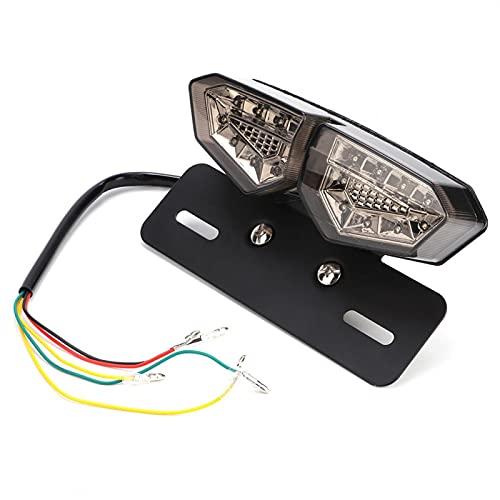 Luz trasera: luz trasera universal para motocicleta, lámpara de freno, indicadores de señal de giro, accesorios para coche